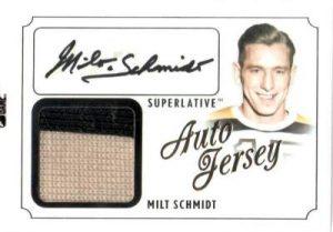 Superlative Auto Jersey Milt Schmidt