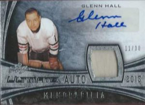 Leaf Ultimate Autograph Memorabilia Glenn Hall