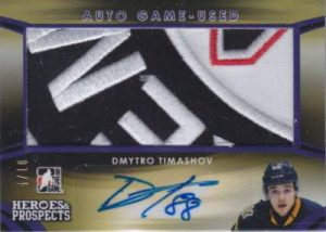 Heroes & Prospects Autograph Jersey Patch Dmytro Timashov