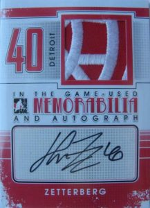 Game Used Auto and Mem Henrik Zetterberg