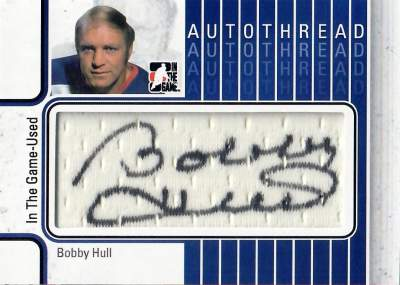 Game Used Autothread Bobby Clarke