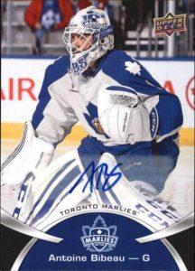 UD AHL Base Autographs Antoine Bibeau