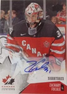 Canada Juniors Black Foil Autos Fucale
