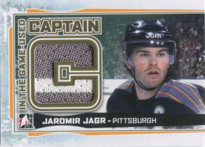 Game Used Captain C Jagr