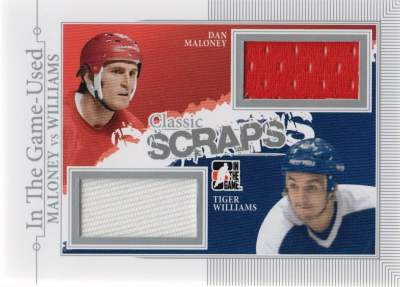 Game Used Classic Scraps Dan Maloney, Tiger Williams