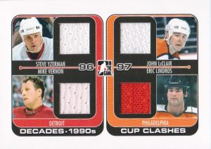 90s Cup Clashes Steve Yzerman, Mike Vernon, John LeClair, Eric Lindros
