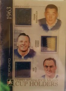 Lord Stanley's Mug Cup Holders Trio Limited Frank Mahovlich, Johnny Bower, Red Kelly