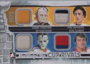 Lord Stanley's Mug Cup Rivals Quad Limited Gerry Cheevers, Phil Esposito, Ed Giacomin, Rod Gilbert