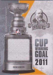Lord Stanley's Mug Cup Winning Goal Patrice Bergeron