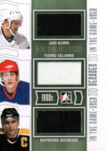 Game Used Decades Kurri, Selanne, Bourque