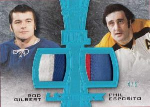 Leaf Ultimate Dual Memorabilia Rod Gilbert, Phil Esposito