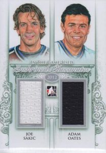 Game Used Enshrined Classmates Sakic, Oates