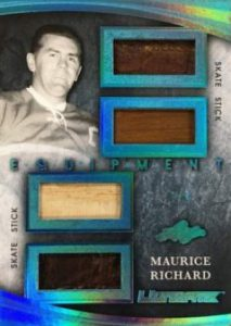 Leaf Ultimate Equipment Quad Relics Maurice Richard