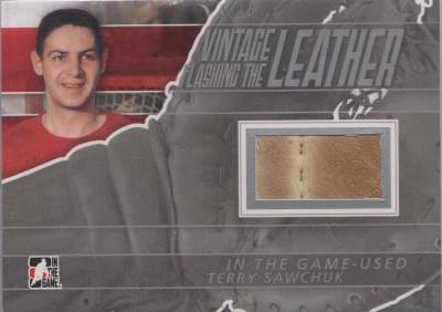 Game Used Flashing the Leather Vintage Sawchuk