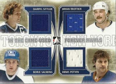 Game Used Forever Rivals Sittler, Salming, Trottier, Potvin