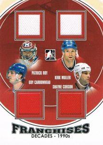 90s Franchises Patrick Toy, Kirk Muller, Shayne Corson, Guy Carbonneau
