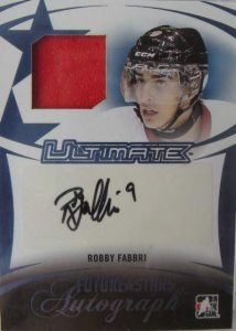 14th Edition Future Stars Jersey Auto Robby Fabbri