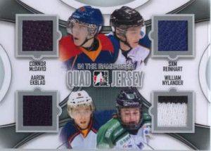Game Used Quad McDavid, Reinhart, Ekblad, Nylander