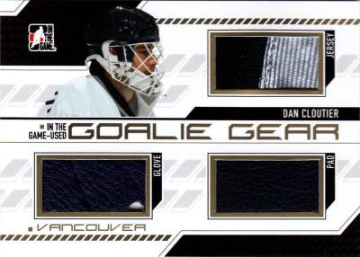 Game Used Goalie Gear Cloutier