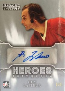 Heroes & Prospects Heroes Autographs Guy Lafleur