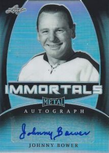 Leaf Metal Immortals Autographs Johnny Bower