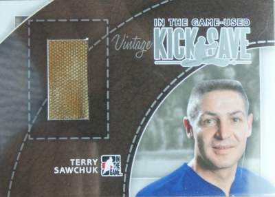 Game Used Kick Save Vintage Sawchuk