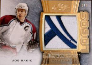 Leaf Ultimate Logos Joe Sakic