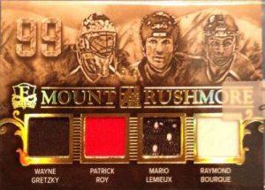 Enshrined Mount Rushmore Gretzky Roy Lemieux Bourque