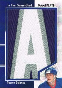Game Used Nameplate Selanne