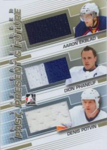 Game Used Past Present Future Ekblad, Phaneuf, Potvin
