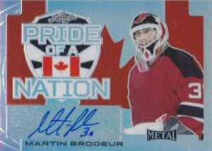 Leaf Metal Pride of a Nation Autographs Martin Brodeur