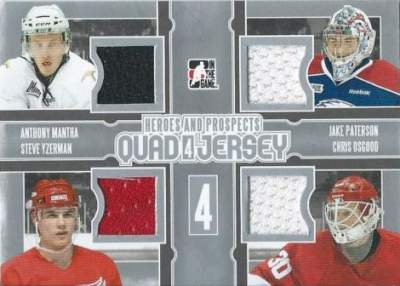H&P Quad Jersey Anthony Mantha, Jake Patterson, Steve Yzerman, Chris Osgood