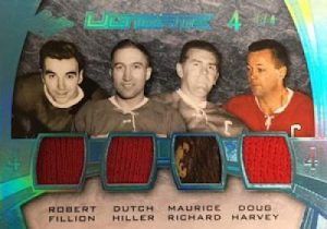 Leaf Ultimate Quad Memorabilia Fillion, Hiller, Richard, Harvey