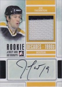 90s Rookie Jersey Auto Joe Thornton