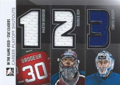 Game Used Stat Leaders Brodeur, Roy, Cujo