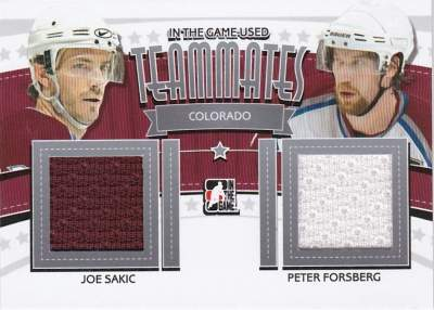 Game Used Teammates Sakic, Forsberg