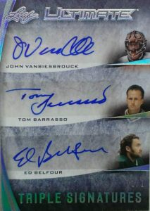 Leaf Ultimate Triple Signatures Vanbiesbrouck, Barrasso, Belfour