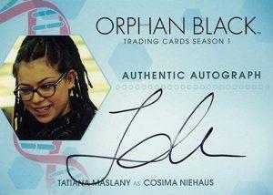 Orphan Black Autographs Tatiana Maslany Cosima