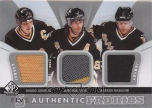 Authentic Fabrics Five Front Lemieux, Jagr, Naslund