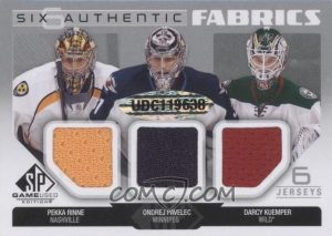 Authentic Fabrics Sixes Back Rinne, Pavelec, Kuemper