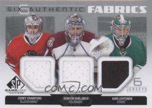 Authentic Fabrics Sixes Front Crawford, Varlamov, Lehtonen