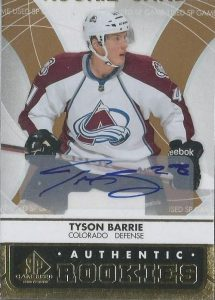 Authentic Rookies Gold Auto Tyson Barrie