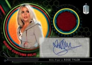 Doctor Who Autographed Costume Relic Rose Tyler