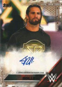 WWE Autographs Seth Rollins