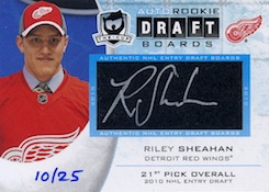 Autographed Rookie Draft Boards Riley Sheahan