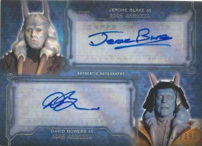 Masterwork Dual Autographs Mas Amedda AKA Jerome Clarke & David Bowers