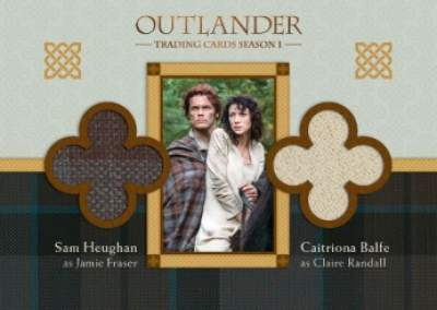 Outlander Dual Wardrobe Sam Heughan and Caitona Balfe