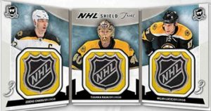 NHL Shield Trios Booklet Chara, Rask, Lucic