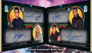 Doctor Who Quad Booklet Auto