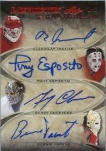 Ultimate Quad Signatures Tretiak, Esposito, Cheevers, Parent